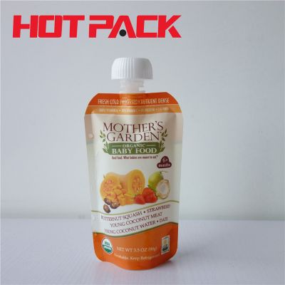 Fruit juice spouted stand up pouches packaging bags baby food pouch